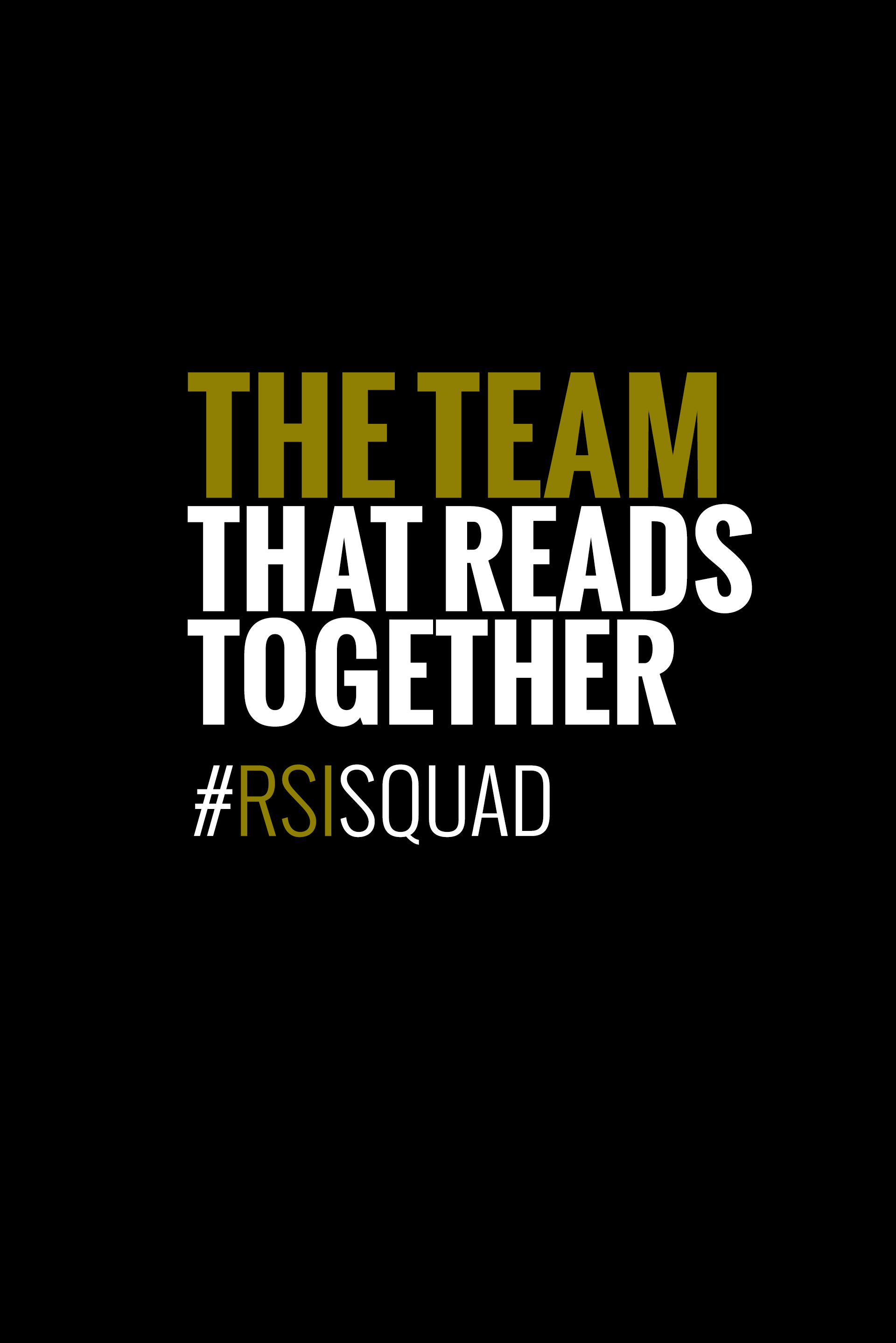The Team That Reads Together